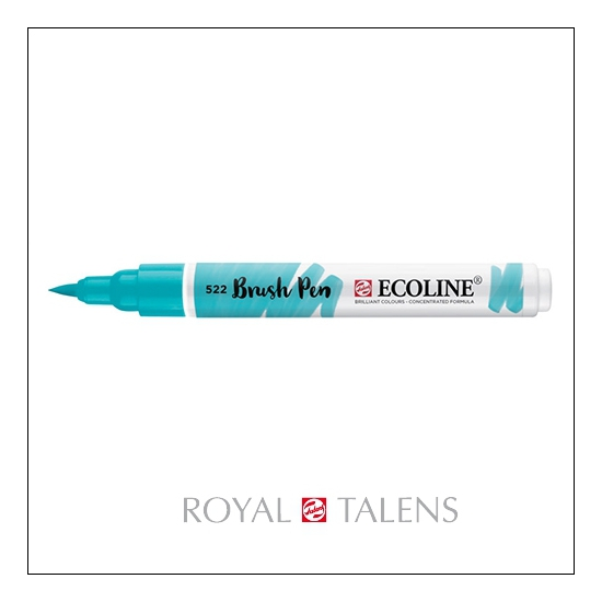 Royal Talens Ecoline Brush Pen Turquoise Blue 522
