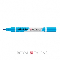 Royal Talens Ecoline Brush Pen Sky Blue Cyan 578
