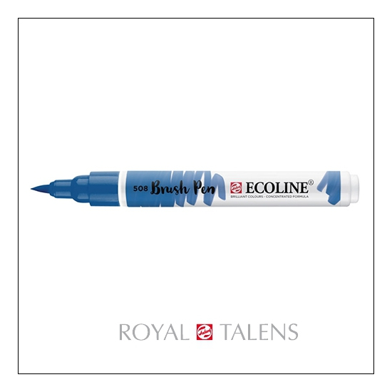 Royal Talens Ecoline Brush Pen Prussian Blue 508