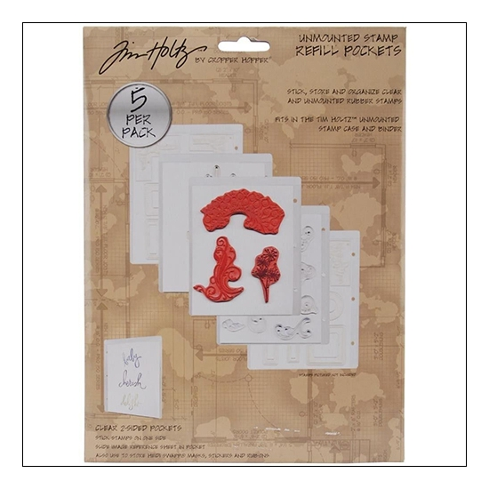 Tim Holtz Unmouted Stamp Refill Pockets