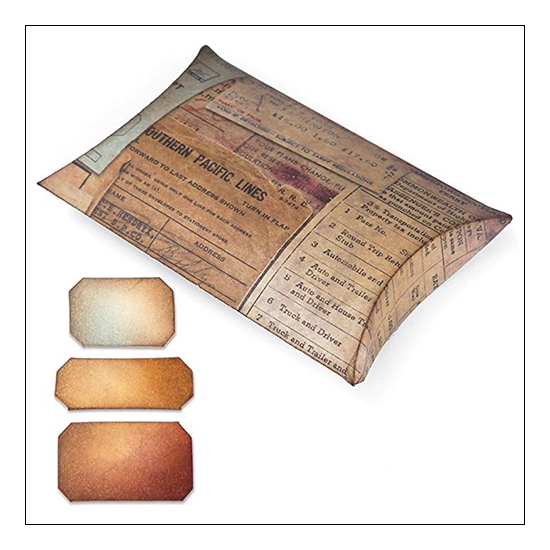 Sizzix Tim Holtz Alterations Movers and Shapers Pillow Box with Labels