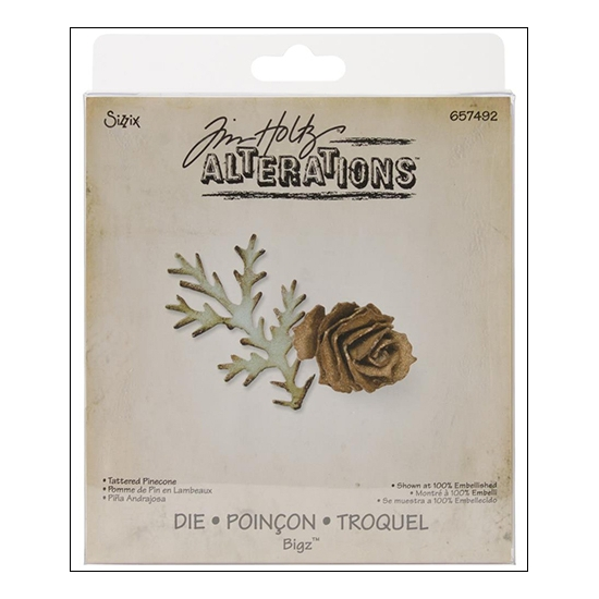 Sizzix Tim Holtz Alterations Bigz Die Tattered Pinecone