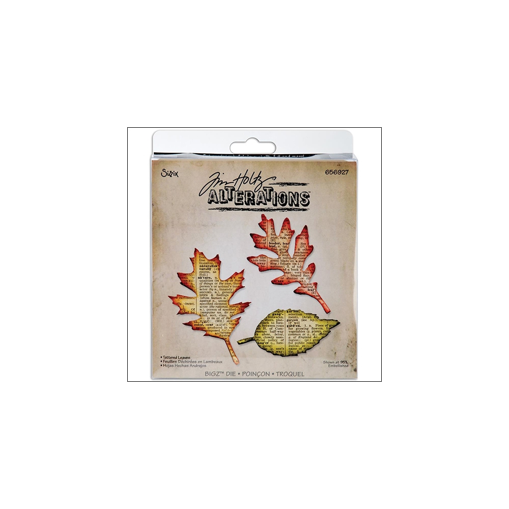 Sizzix Tim Holtz Alterations Bigz Die Tattered Leaves