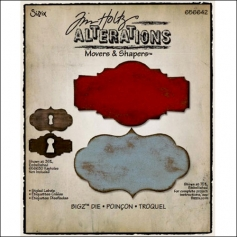 Sizzix Tim Holtz Alterations Bigz Die Movers and Shapers Styled Labels
