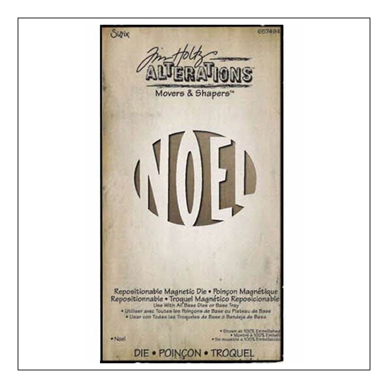 Sizzix Tim Holtz Alterations Movers and Shapers Magnetic Die Noel